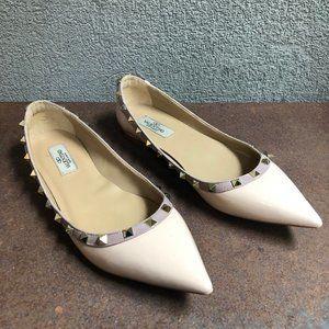 Valentino Rockstud Patent Leather Ballet Flats 11